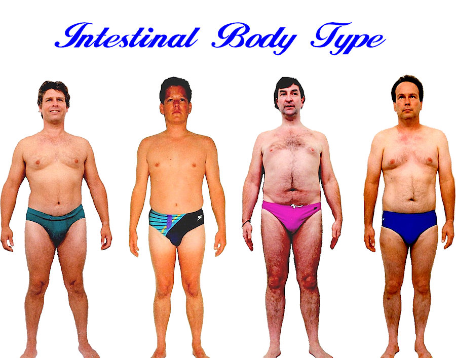 Mens Intestinal body shape