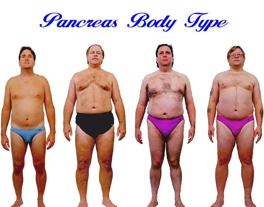 Mens Pancreas body shape